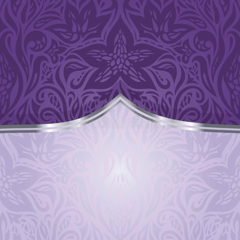 Violet uitstekend uitnodigingsontwerp royalty-vrije illustratie