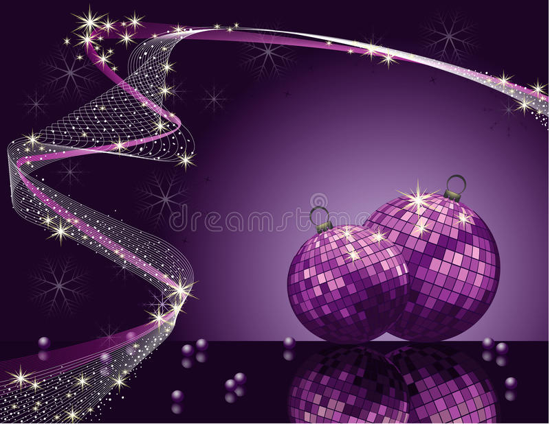 Violet vector Christmas romantic design royalty free stock photos