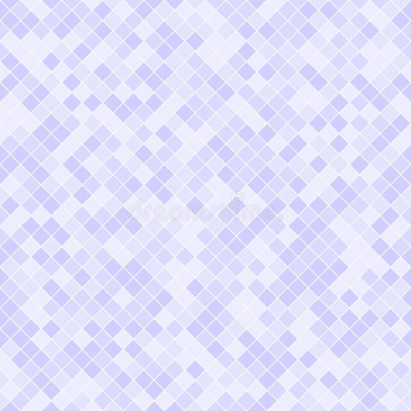 Violet vierkant diamantpatroon Naadloze vectorachtergrond stock illustratie