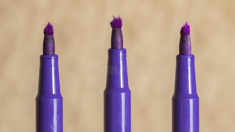 Violet vilt-uiteinde verstoord tellersuiteinde royalty-vrije stock foto's