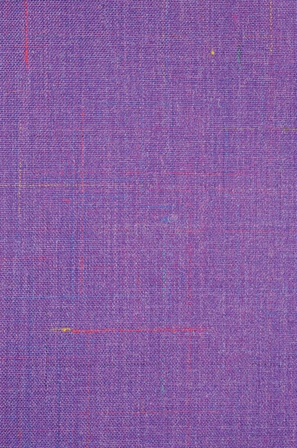 Violet Vintage Tweed Wool Fabric-Achtergrondtextuurpatroon, Grote Gedetailleerde Verticale Geweven Macroclose-up, Blauw Purple, G stock fotografie