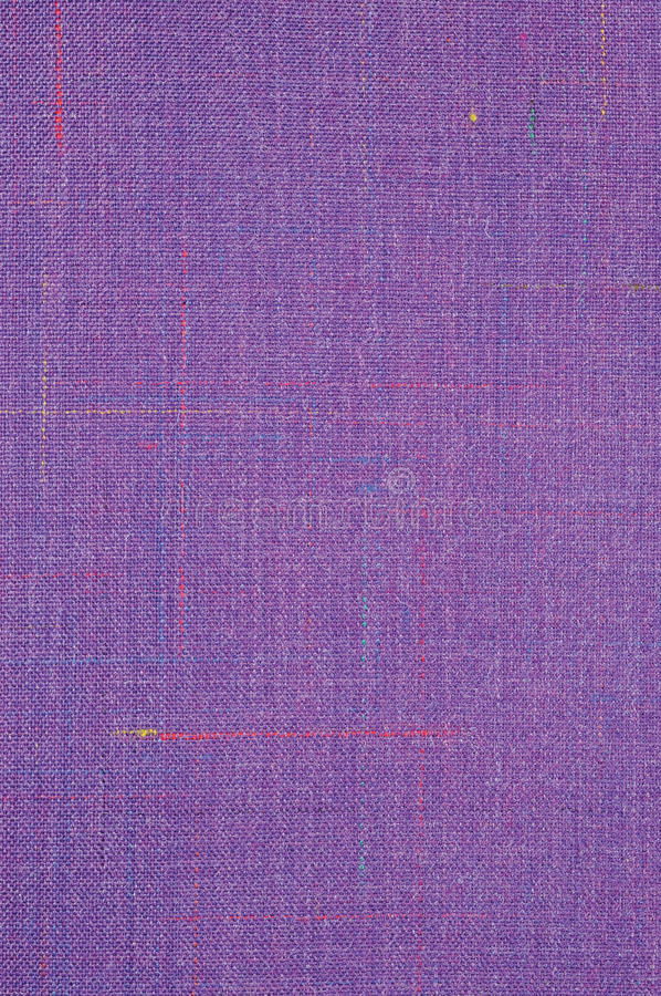 Violet Vintage Tweed Wool Fabric Background Texture Pattern, Large Detailed Vertical Textured Macro Closeup, Purple, Yellow, Blue stock photography