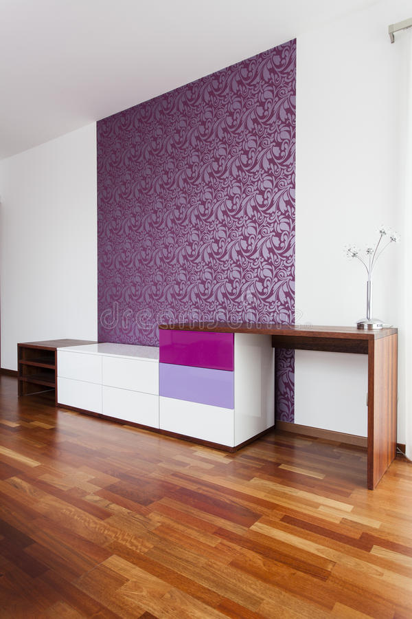 Download Violet wall stock image. Image of lamp, chest, dwelling - 27268621