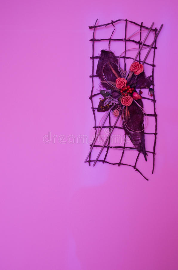 Violet Wall Decoration Royalty Free Stock Photography