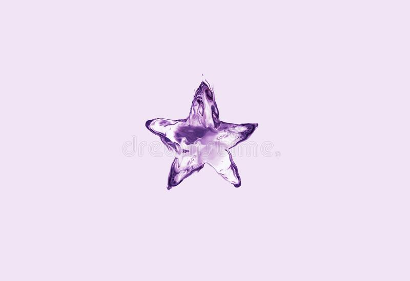 Violet Water Star stock afbeeldingen