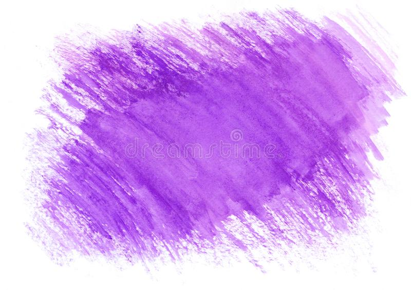 Violet watercolor dry brush strokes. Beautiful abstract background for designers, mock-ups, invitations, postcards, web vector illustration