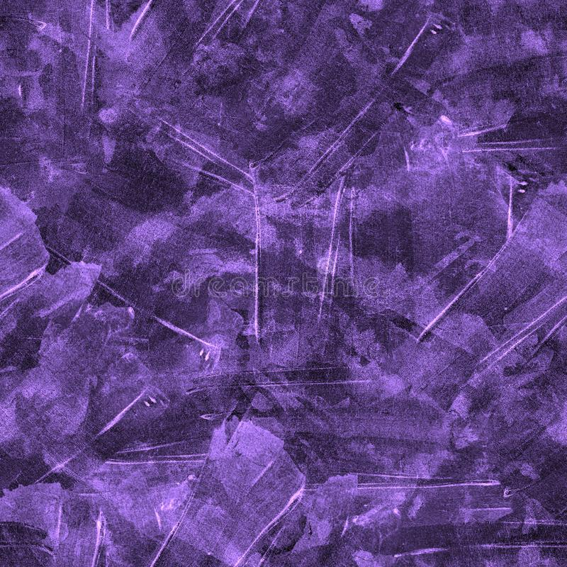 Brush strokes background. Violet watercolor seamless pattern. Brush strokes background. Vintage abstract summer acrylic endless tile. Watercolour square liquid royalty free stock images