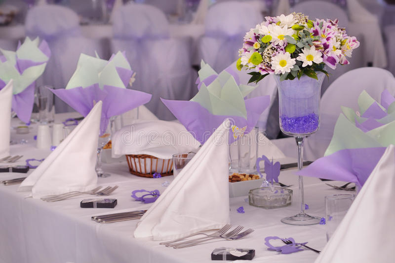 Download Violet wedding stock photo. Image of forks, holiday, napkin - 17647588