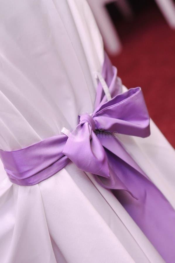 Violet wedding ribbon stock image