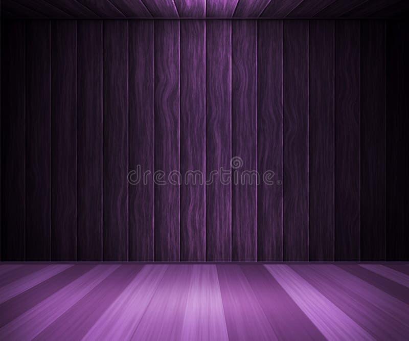 Violet Wooden Interior Background ilustração royalty free