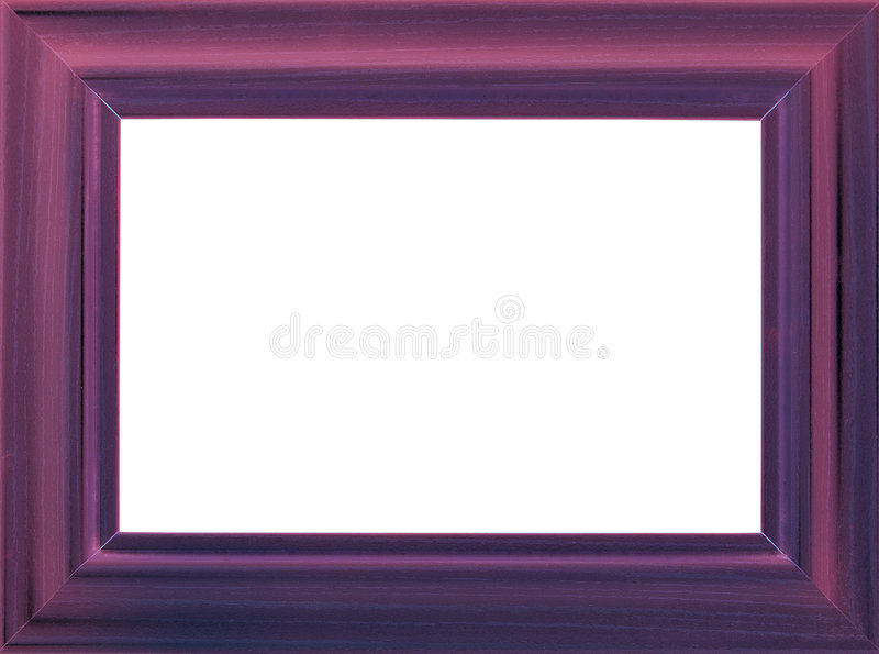 Download Violet wooden photo frame stock photo. Image of isolated - 8200360