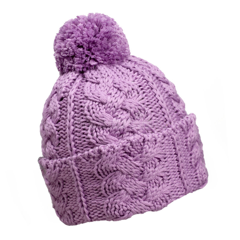 Download Violet woolen hat stock photo. Image of clothing, accessory - 8710682