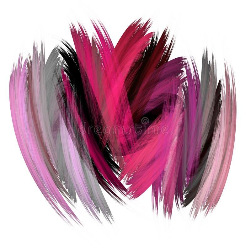 Violeta abstrata e pinturas roxas na parede Moderno estranho pontilhado ilustração do vetor