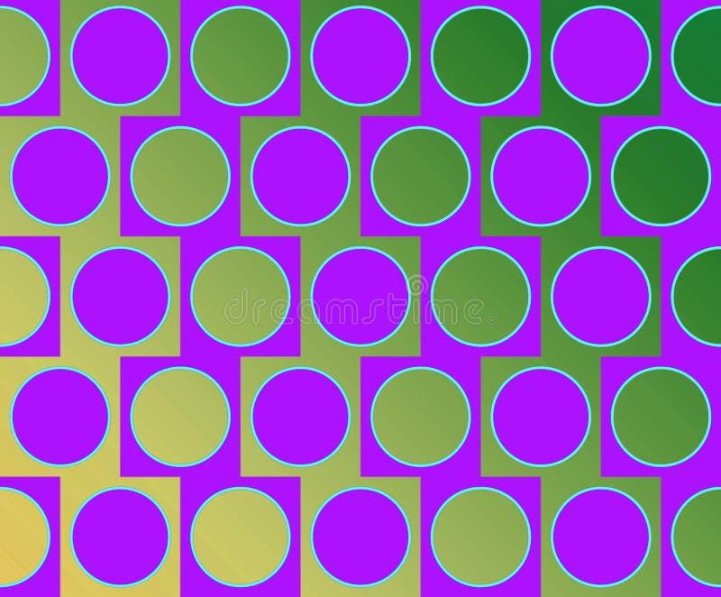 Violeta alterna do teste padrão dos círculos grandes da arte Op ilustração stock