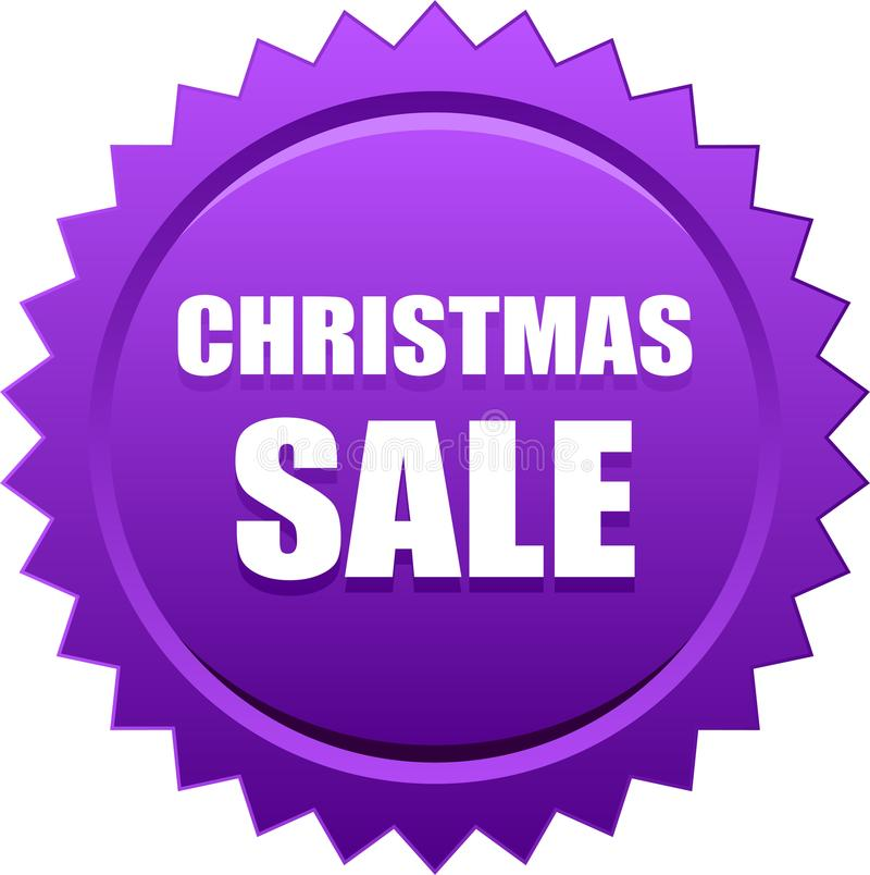Violeta de la insignia del sello del sello de la venta de la Navidad ilustración del vector