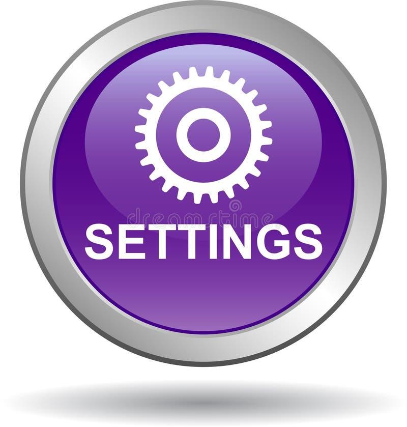 Violeta del botón del web de los ajustes libre illustration