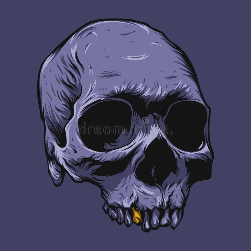 Violeta del cráneo ilustración del vector
