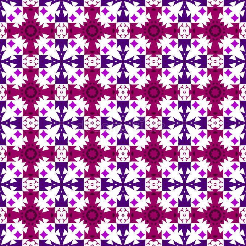 Violeta del vector, púrpura y ornamento inconsútil de la cereza libre illustration