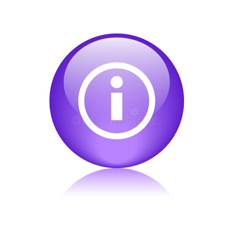 Violeta do botão da Web do ícone da informação ilustração do vetor