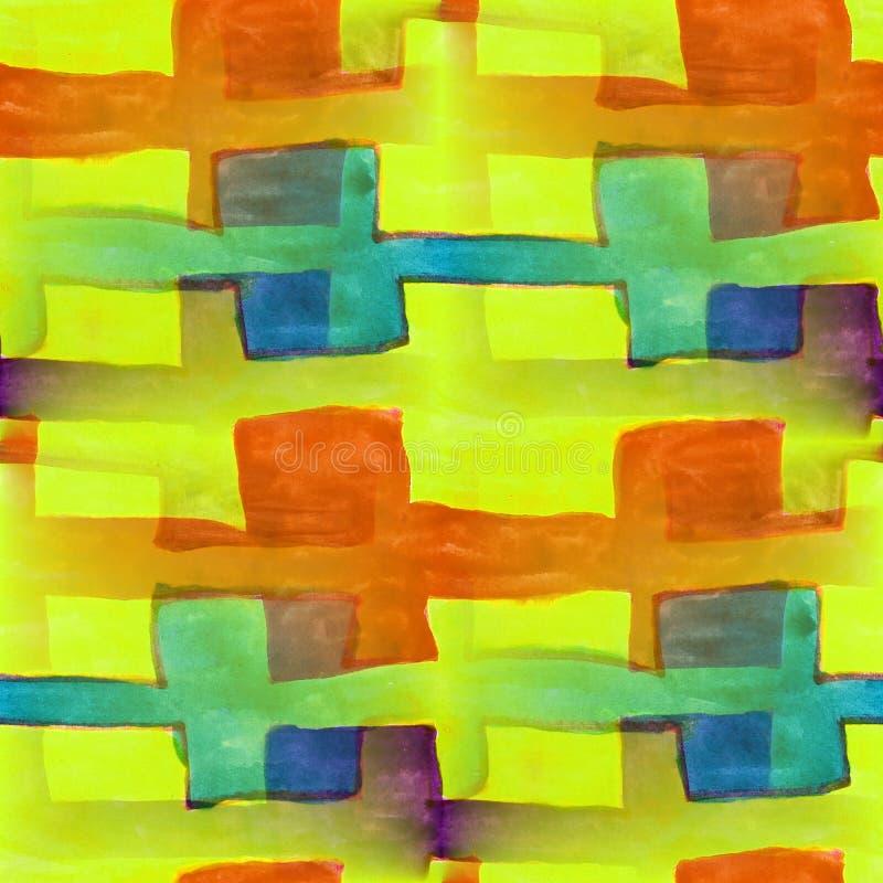 Violeta inconsútil, anaranjado, azul, marrón, wallpape del artista de la acuarela ilustración del vector