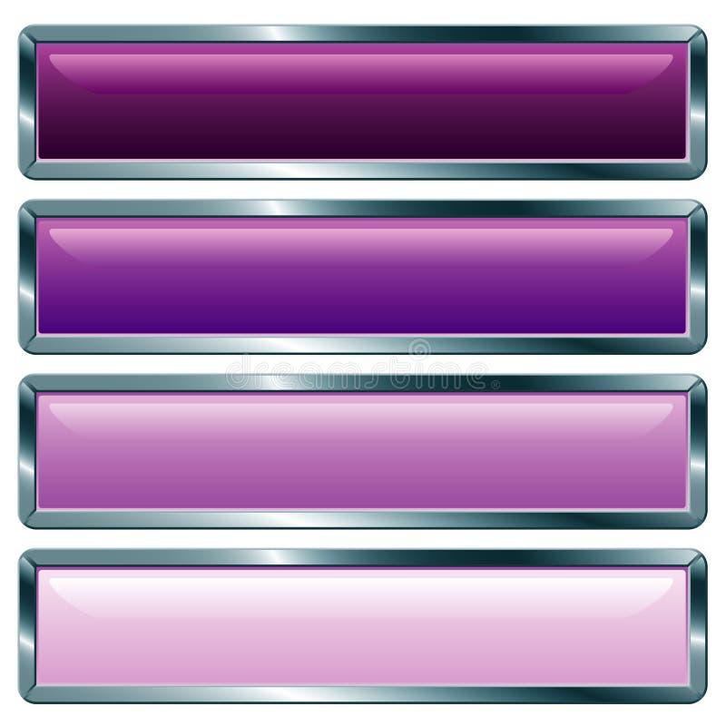 Violeta metálica longa ilustração stock