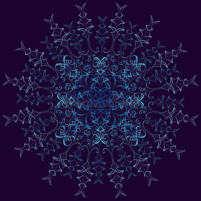 Violeta redonda abstrata e teste padrão azul ilustração royalty free