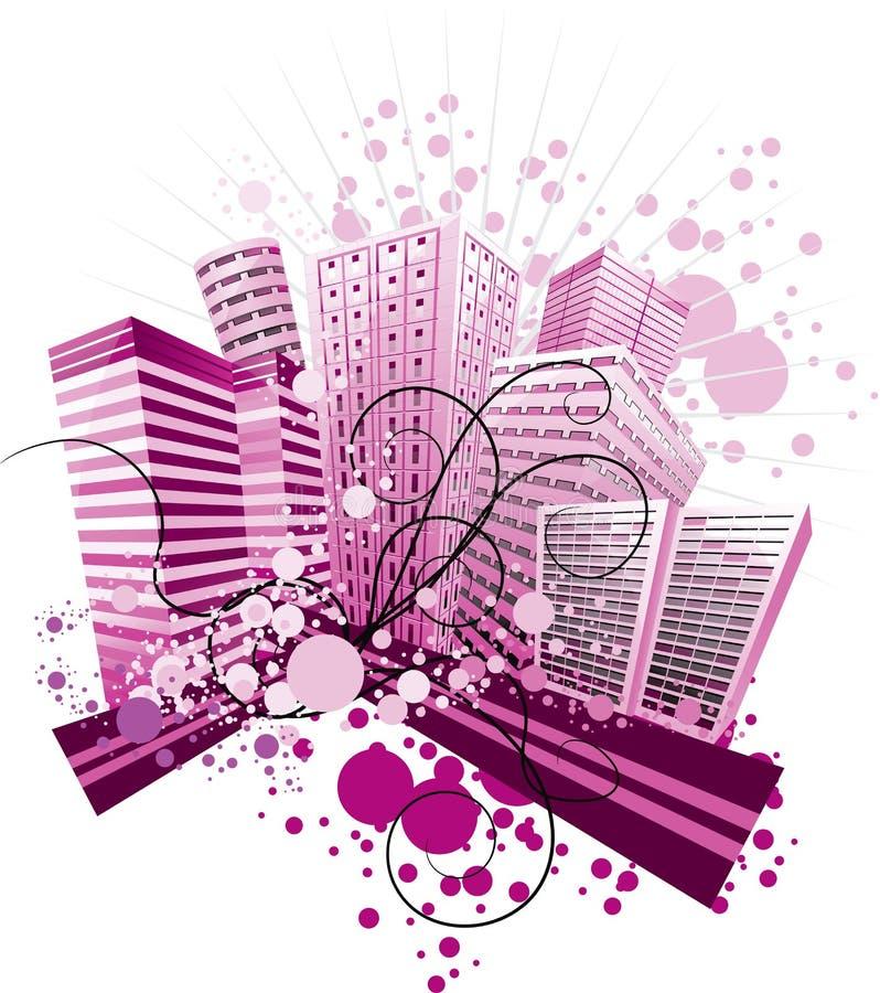 Violetcity illustration libre de droits
