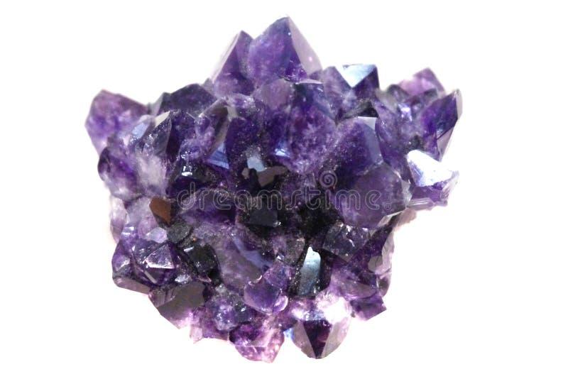 Violetkleurig mineraal stock afbeeldingen