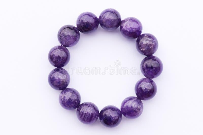 Violetkleurige armband royalty-vrije stock foto
