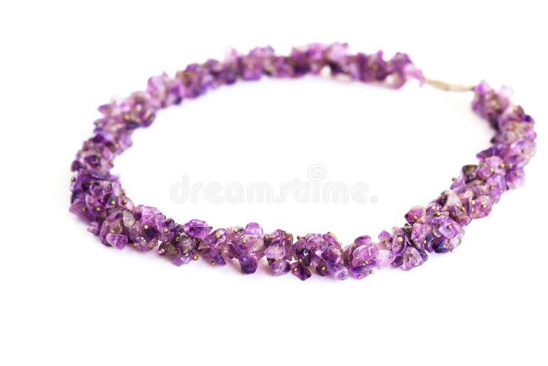 Violetkleurige halsband stock fotografie