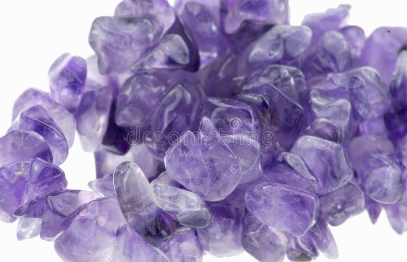 Violetkleurige Kristallen royalty-vrije stock foto's