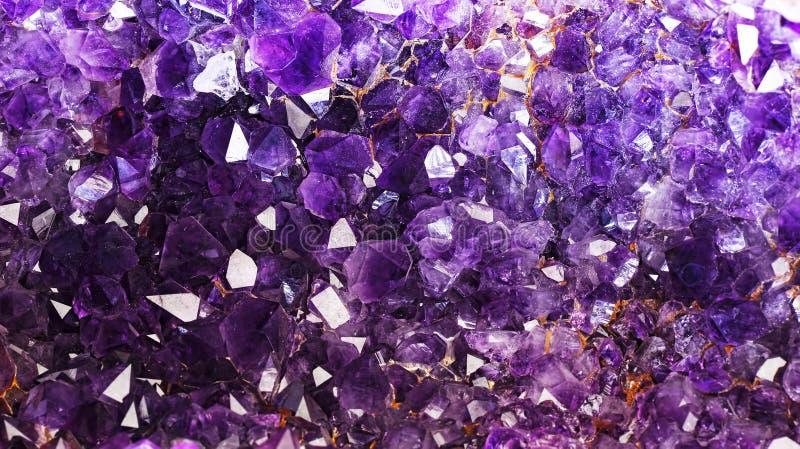 Violetkleurige Kristallen royalty-vrije stock foto