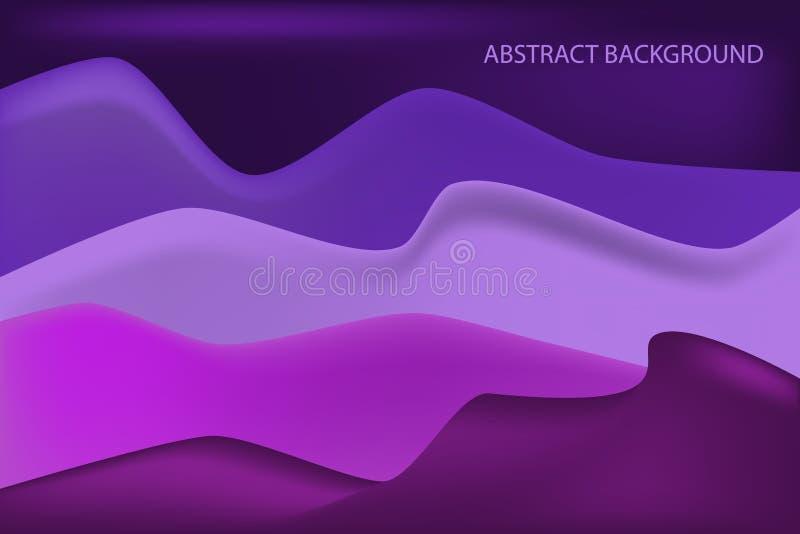 Violett dyn- och sandbakgrund vektor illustrationer