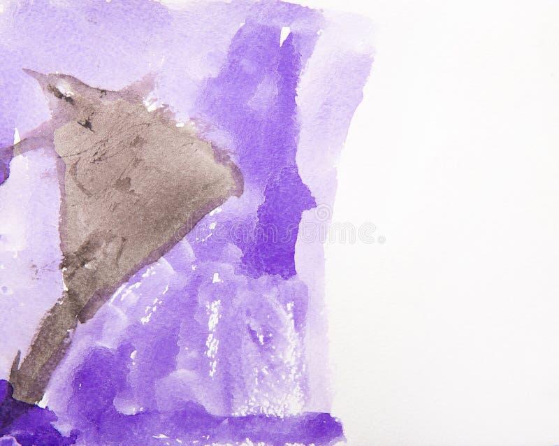 Violett fläckvattenfärg vektor illustrationer