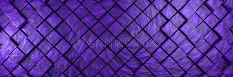 violett gropigt kubbakgrundsbaner vektor illustrationer