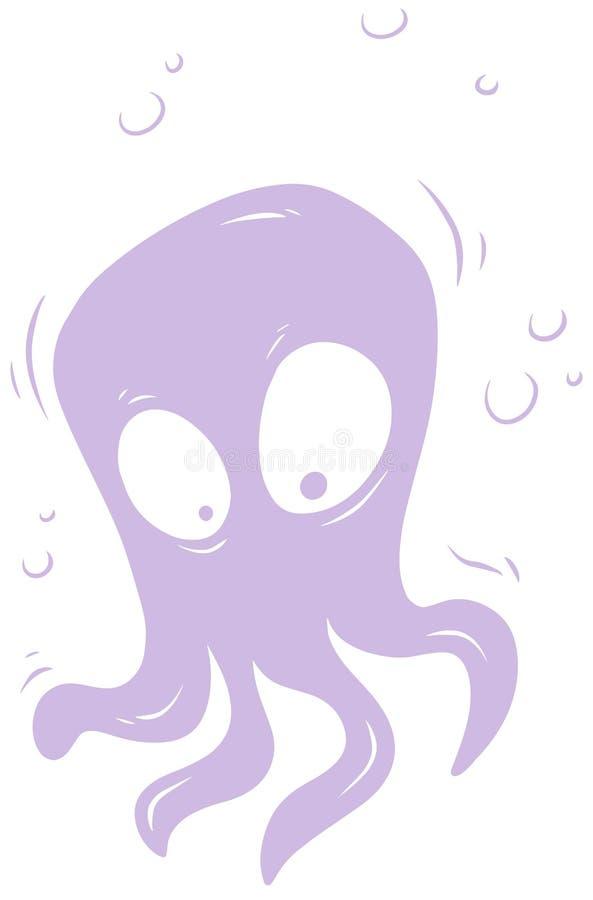 Violett gullig främmande gigantisk vektorsymbol för tecknad film vektor illustrationer