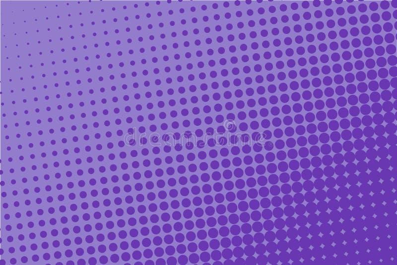 Violett rastrerad modell Digital lutning Abstrakt futuristisk panel för webbplatser, baner i pop-konst stil, humorbok royaltyfri illustrationer