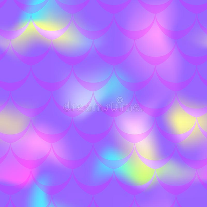 Violett sjöjungfrubakgrund för neon Mångfärgad regnbågsskimrande bakgrund vektor illustrationer