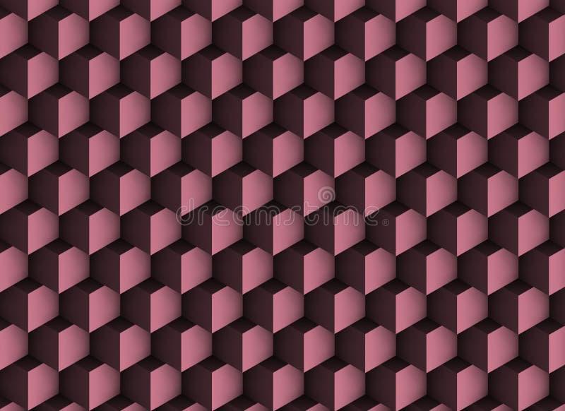 violett textur 3d med skuggor och kuber arkivfoto