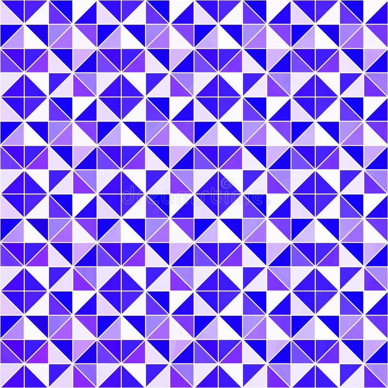 Violett triangulär bakgrund Modern geometrisk bakgrund för vektor med trianglar Ljust färgar abstrakt textur purpur wallpaper royaltyfri illustrationer