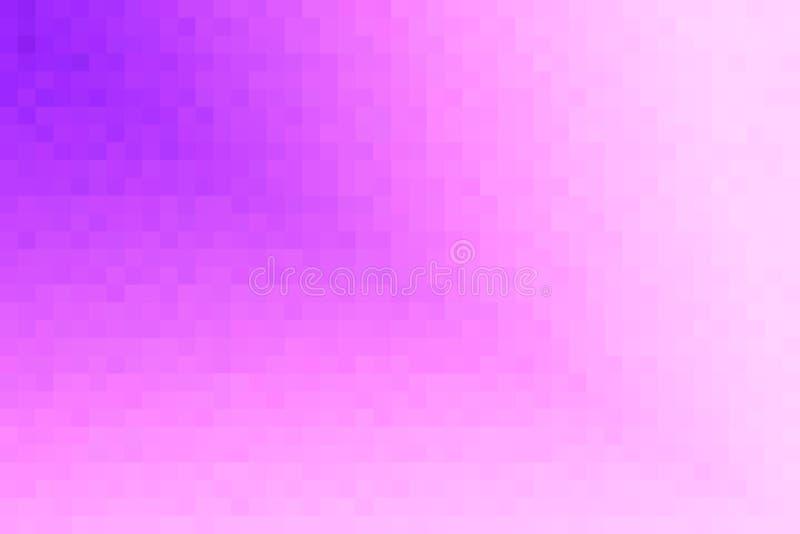Violette abstraite et fond diagonal rose de gradient Texture avec les blocs carrés de pixel Modèle de mosaïque illustration de vecteur