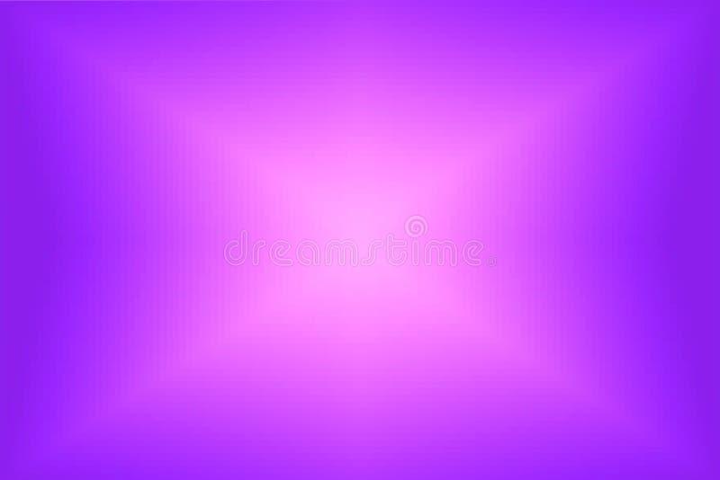 Violette abstraite et fond rayonnant rose de gradient Texture avec les blocs carrés de pixel Modèle de mosaïque illustration libre de droits