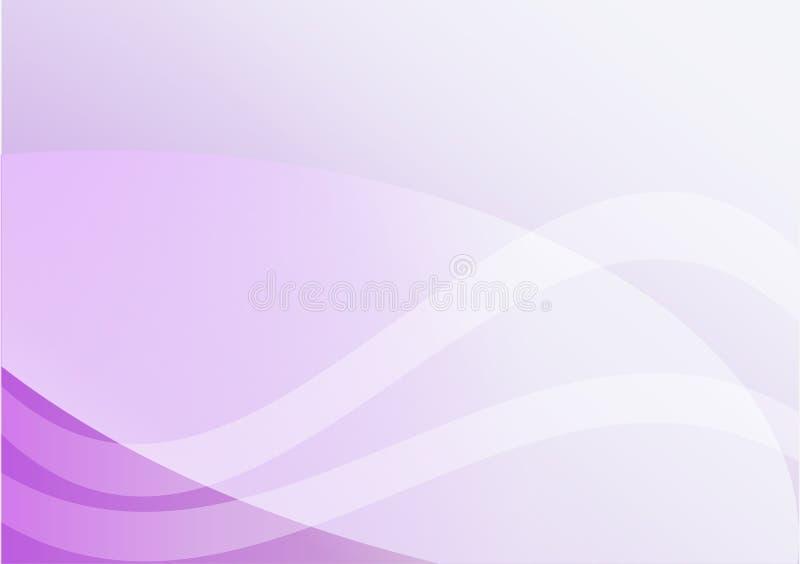 Violette abstraite, ligne de lumière pourpre de courbe fond Pour votre texte illustration stock