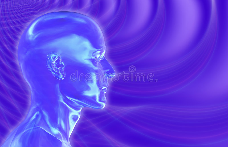 Violette Achtergrond Brainwaves royalty-vrije illustratie