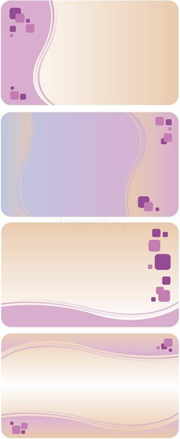 Violette adreskaartjemalplaatjes royalty-vrije illustratie