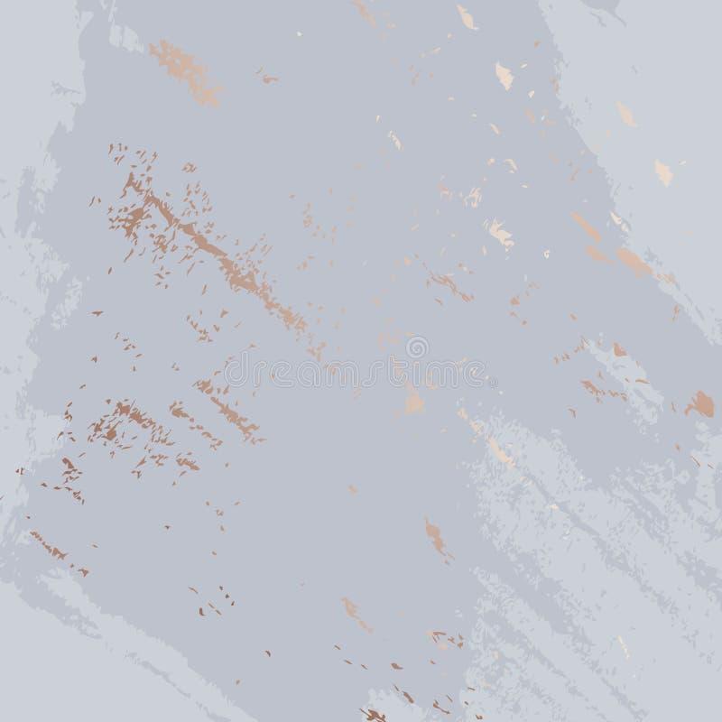 Violette Bürstenanschläge mit Funkelngoldener Marmorbeschaffenheit Anwendbar für Designabdeckung, Darstellung, Einladung, Flieger lizenzfreie abbildung