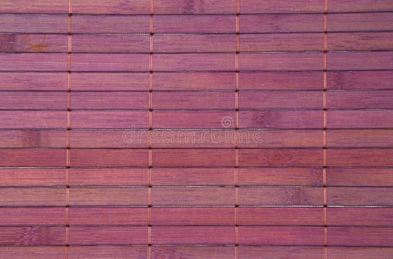 Violette Bambusmattenbeschaffenheit stockfotos