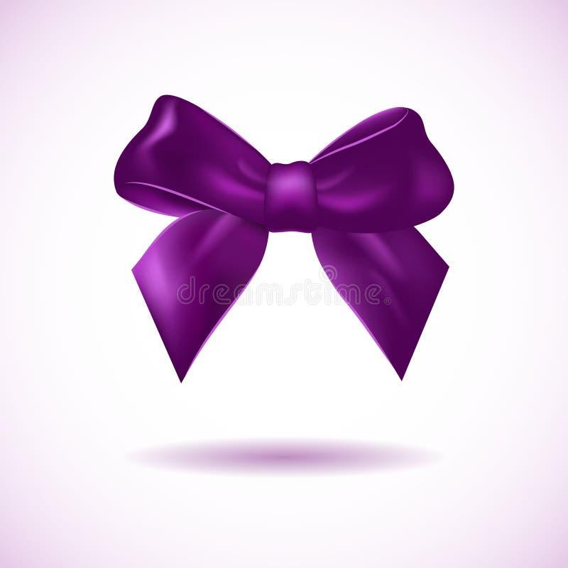 Violette boog die op wit wordt geïsoleerd stock illustratie