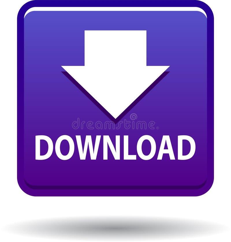 Violette d'icône de Web de bouton de téléchargement illustration libre de droits