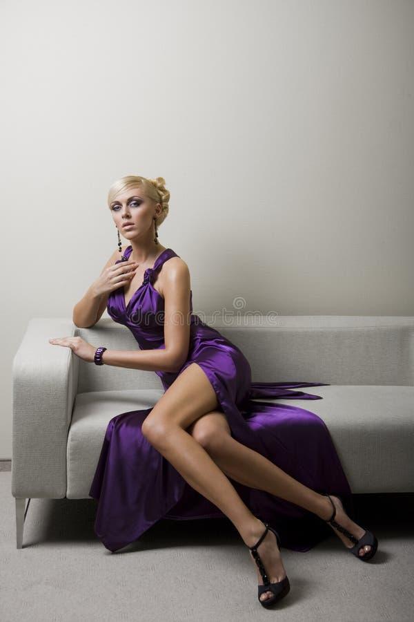 Violette dame royalty-vrije stock afbeelding